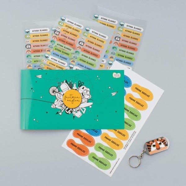 pack textil de etiquetas personalizadas cuaderno