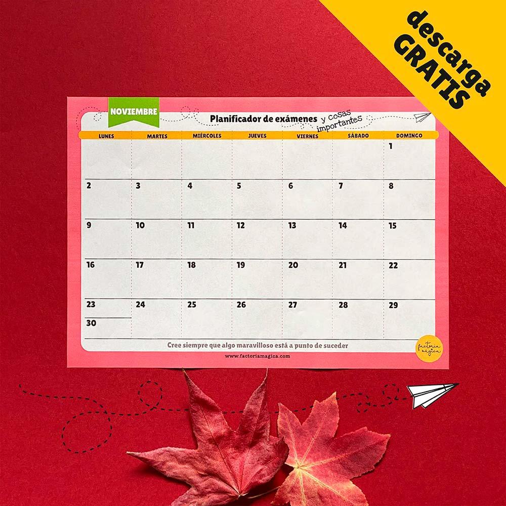 planificador exámenes noviembre